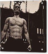 Frankenstein's Science Acrylic Print by Bob Orsillo