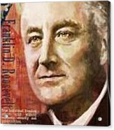 Franklin D. Roosevelt Acrylic Print by Corporate Art Task Force