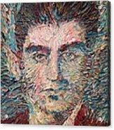 Franz Kafka Oil Portrait Acrylic Print by Fabrizio Cassetta