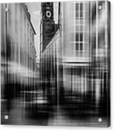 Frauenkirche - Muenchen V - Bw Acrylic Print by Hannes Cmarits