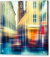 Frauenkirche - Munich V - Vintage Acrylic Print by Hannes Cmarits