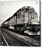 Freight Train Acrylic Print by Tom Druin
