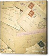 French Correspondence From Ww1 #2 Acrylic Print by Jan Bickerton