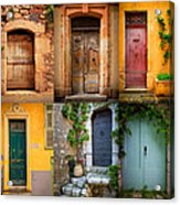 French Doors Acrylic Print by Inge Johnsson