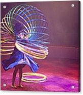 French Hula Hooping Acrylic Print by Matthew Bamberg