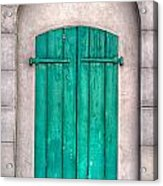 French Quarter Shutters Acrylic Print by Brenda Bryant