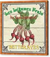 French Vegetable Sign 4 Acrylic Print by Debbie DeWitt
