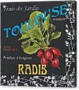 French Veggie Labels 3 Acrylic Print by Debbie DeWitt