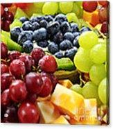 Fresh Fruits And Cheese Acrylic Print by Elena Elisseeva