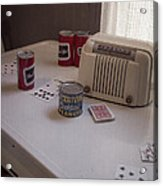 Friday Night Poker Game  Acrylic Print by Edward Fielding