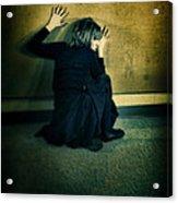 Frightened Woman Acrylic Print by Jill Battaglia