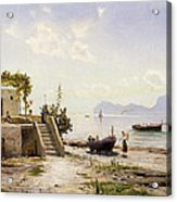 From Sorrento Towards Capri Acrylic Print by Peder Monsted