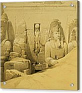 Front Elevation Of The Great Temple Of Aboo Simbel Acrylic Print by David Roberts