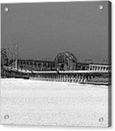 Frozen Bay Bridge Acrylic Print by Skip Willits