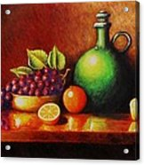 Fruit And Jug Acrylic Print by Gene Gregory