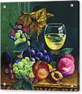 Fruit And Wine Acrylic Print by Karon Melillo DeVega
