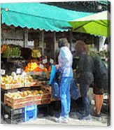 Fruit For Sale Hoboken Nj Acrylic Print by Susan Savad