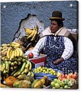 Fruit Seller Acrylic Print by James Brunker