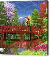 Fuji Lake Acrylic Print by Dominic Davison