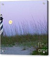 Full Moon At Hatteras Acrylic Print by Laurinda Bowling