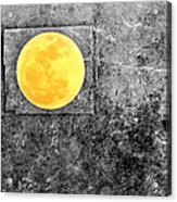 Full Moon Acrylic Print by Rebecca Sherman