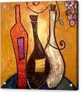 funky Vino 10 Acrylic Print by Gino Savarino