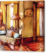 Furniture - Chair - The Queens Parlor Acrylic Print by Mike Savad