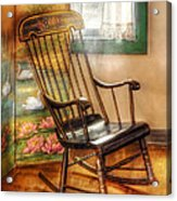 Furniture - Chair - The Rocking Chair Acrylic Print by Mike Savad