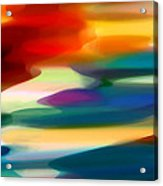 Fury Seascape Acrylic Print by Amy Vangsgard