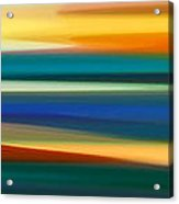 Fury Seascape Panoramic 1 Acrylic Print by Amy Vangsgard
