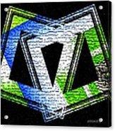 Fusion In Geometric Art Acrylic Print by Mario Perez