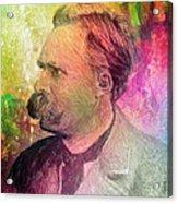 F.w. Nietzsche Acrylic Print by Taylan Apukovska