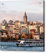 Galata Skyline 03 Acrylic Print by Rick Piper Photography