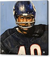 Gale Sayers Acrylic Print by Michael  Pattison