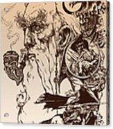 gandalf- Tolkien appreciation Acrylic Print by Derrick Higgins