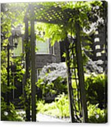 Garden Arbor In Sunlight Acrylic Print by Elena Elisseeva