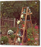 Garden Decorations Acrylic Print by Kay Pickens