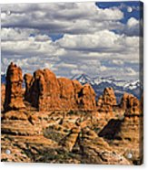 Garden Of Eden And La Sal Mountains Acrylic Print by Utah Images