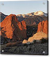 Garden Of The Gods Acrylic Print by Aaron Spong