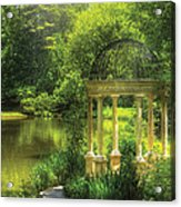 Garden - The Temple Of Love Acrylic Print by Mike Savad