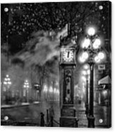 Gastown Steam Clock Acrylic Print by Alexis Birkill