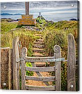Gate To Holy Island  Acrylic Print by Adrian Evans