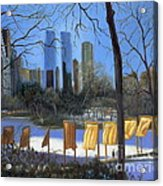 Gates Of New York Acrylic Print by Marlene Book