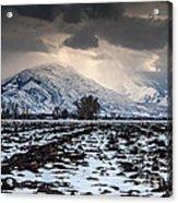 Gathering Winter Storm - Utah Valley Acrylic Print by Gary Whitton