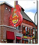 Gatlinburg Hard Rock Cafe Acrylic Print by Frozen in Time Fine Art Photography