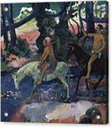 Gauguin, Paul 1848-1903. Ford Running Acrylic Print by Everett