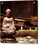 Gautama Buddha Acrylic Print by Olivier Le Queinec