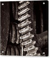Gearing Down From Some Hot Work Acrylic Print by Royce Howland