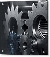 Gears And Power Acrylic Print by Christian Lagereek
