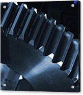 Gears Engineering In Space Acrylic Print by Christian Lagereek